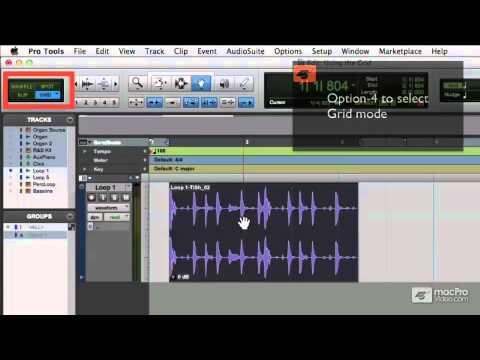 Pro Tools 10 112: Advanced Editing Techniques - 13 Using Grid Modes