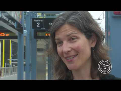 Santa Monica Employees Ride Expo Line on May 10, 2016