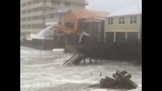 Panama City Beach Building Partially Collapses As Hurricane Michael Lashes Florida