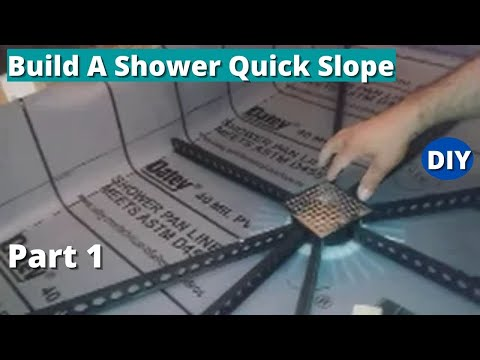 How To Build A Shower Quick Slope Part 1   Installing The Quick Pitch Stick  System