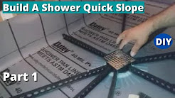 How To Build A Shower Quick Slope   Part 1 - Installing the Quick Pitch Stick  System