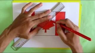 How to draw Canadian flag | pencil drawing