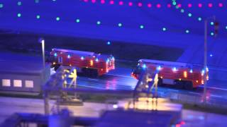 Airplane on fire - training operation. Miniatur Wunderland Fire Fighters Part 4