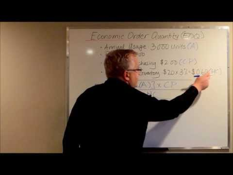Calculating EOQ - Economic Order Quantity (Inventory Costs & Purchasing Costs)