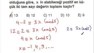 modüler aritmetik 2