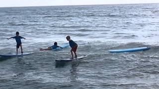 Tommy Cowell Learning How to Surf