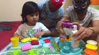 Unboxing Play Doh Ice cream happy party Playset Toys For Kids! Pretend Play making Ice cream Part 3