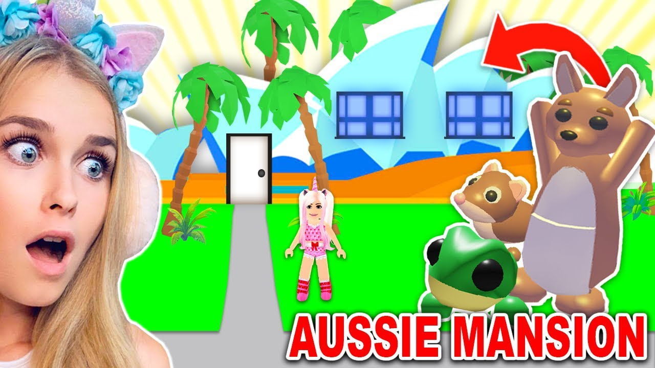 I Am Sanna Roblox Avatar 2020 I Got The New Aussie Mansion For The New Aussie Pets In Adopt Me Roblox Youtube