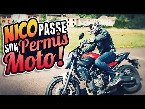 NICO PASSE SON PERMIS MOTO !