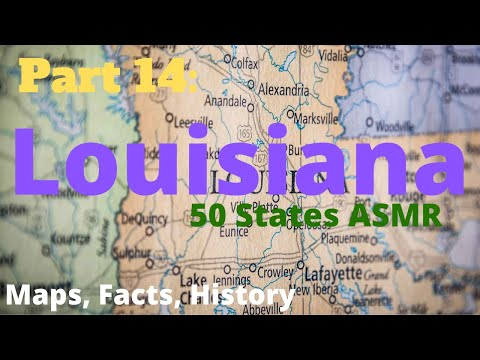 [ASMR] State Map Geography Part 14: Louisiana