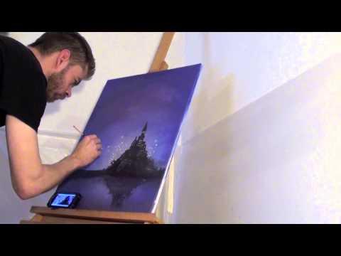 Speed Painting - Disney Themed Lantern Scene - Oil On Canvas
