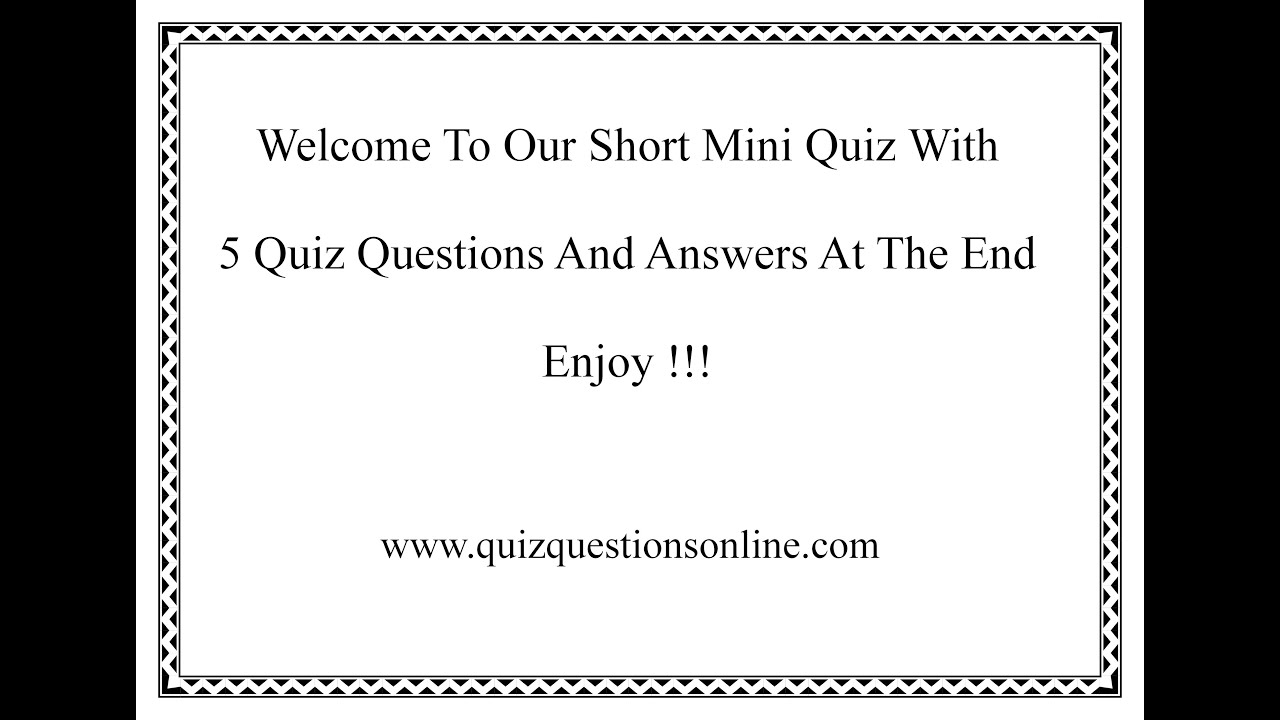 General Knowledge Questions And Answers Free General Knowledge Quiz