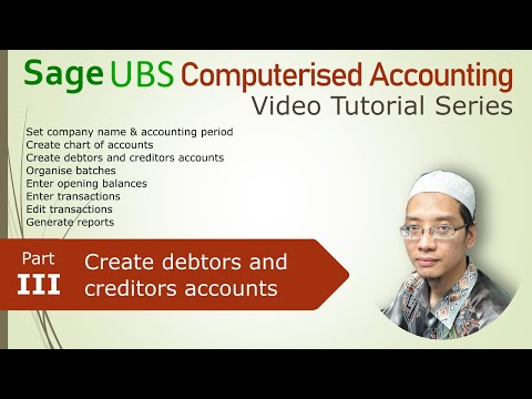UBS Computerised Accounting Tutorial pt3: Debtors and Creditors Subsidiary