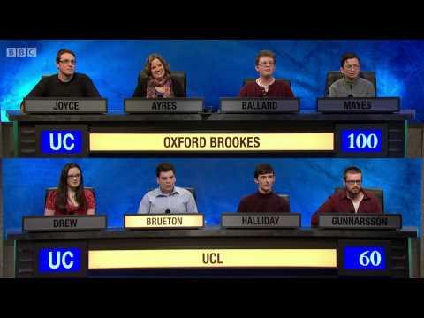 University Challenge S44E24 Oxford Brookes vs UCL