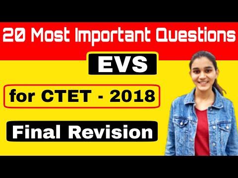 EVS Most Important Questions for CTET/KVS- 2019 | Top-20 MCQ's