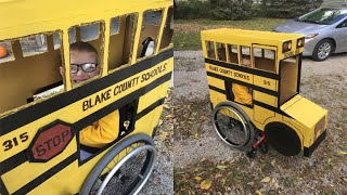 Grandfather creates custom halloween costume for boy with spina bifida