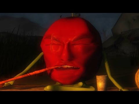 the tomato game About the game on earth everything is bad, people fled or died their place was taken by the plants our hero is young tomato that makes money by destroying monsters.