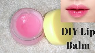 How To Make Lip Balm At Home | For Pink & Moisturized Lips | Easy And Simple DIY
