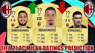 FIFA 21 | AC MILAN RATINGS PREDICTION | FT. IBRAHIMOVIC, DONNARUMMA, ROMAGNOLI...