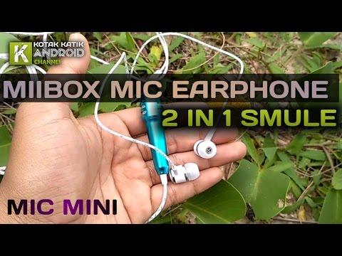 Miibox Mic Earphone 2 in 1 Untuk Karaoke di Aplikasi Smule