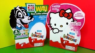 Unboxing Kinder Surprise Eggs Hello Kitty Dog Natoons Toy Thumbnail