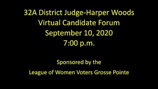 32A District Judge Harper Woods, September 10, 2020