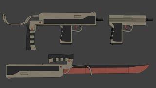 Fanmade RWBY Weapon - Velvet Hornet (Glock & Stinger)