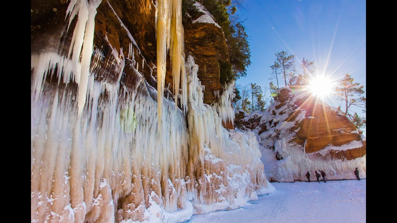 ice caves apostle islands sea caves winter 2014 youtube