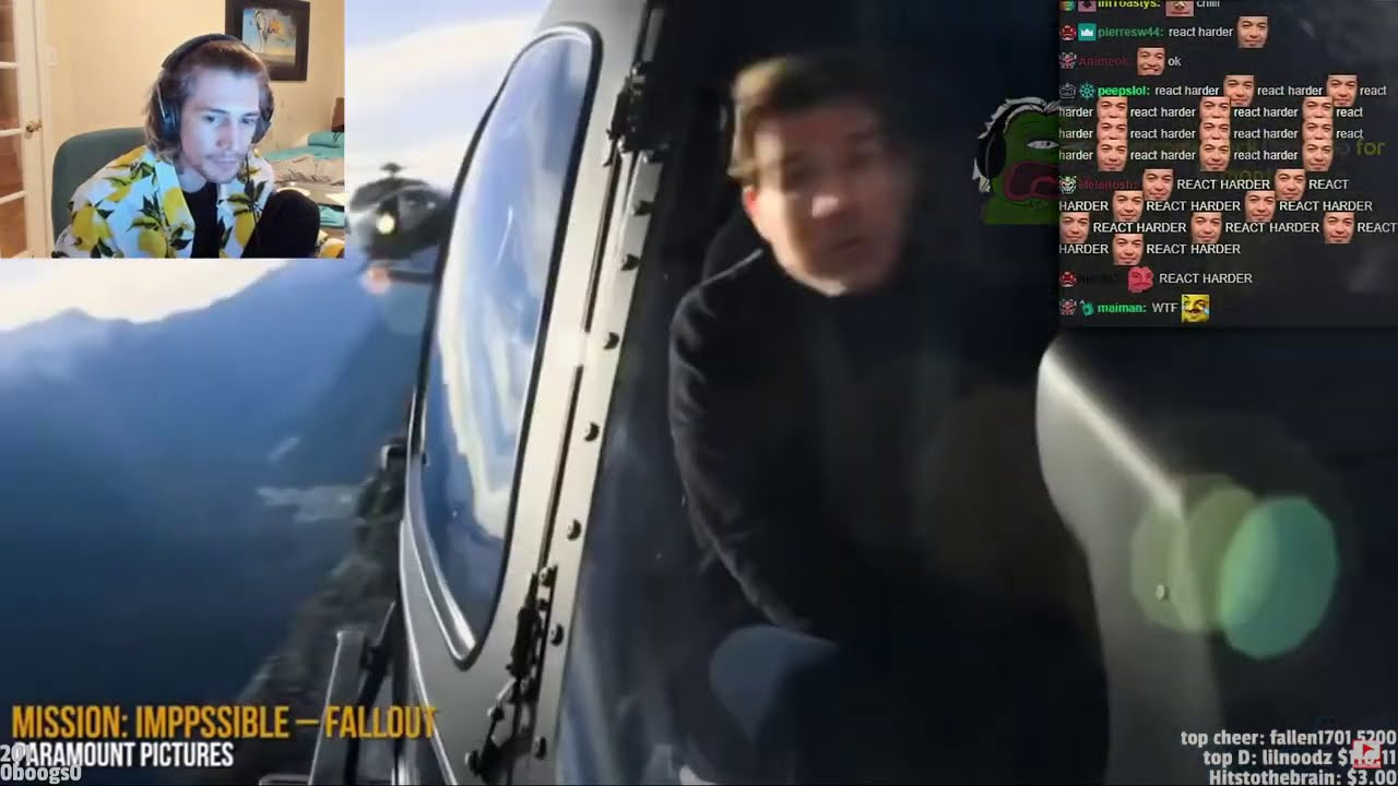 Download xQc Reacts to 8 Crazy Mission: Impossible Stunts Tom Cruise Did Himself