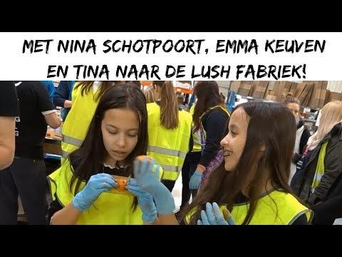 MET NINA SCHOTPOORT, EMMA KEUVEN EN TINA NAAR DE LUSH FABRIEK! || DAILY TWINLIFE
