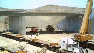 Timelapse construction of boat beach road bridge 2