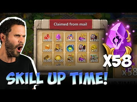 INSANE Bazaar So Many Rewards Skill 13 TIME Castle Clash