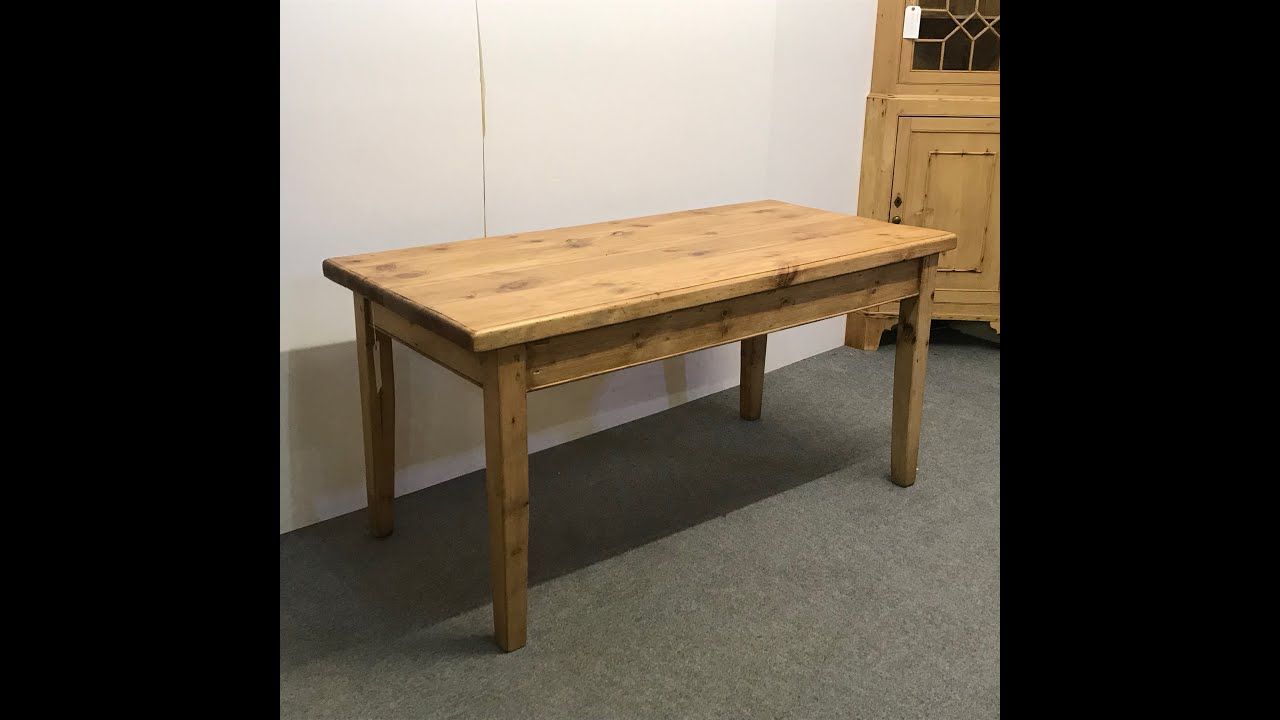 Reclaimed Pine Kitchen Table With Chunky Top - Pinefinders Old Pine  Furniture Warehouse