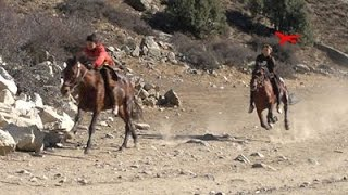 Horse riding in Nuristan,kantiwa, Islampet village...