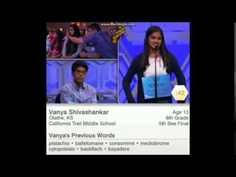 Scripps National Spelling Bee 2015 - Last Few Minutes