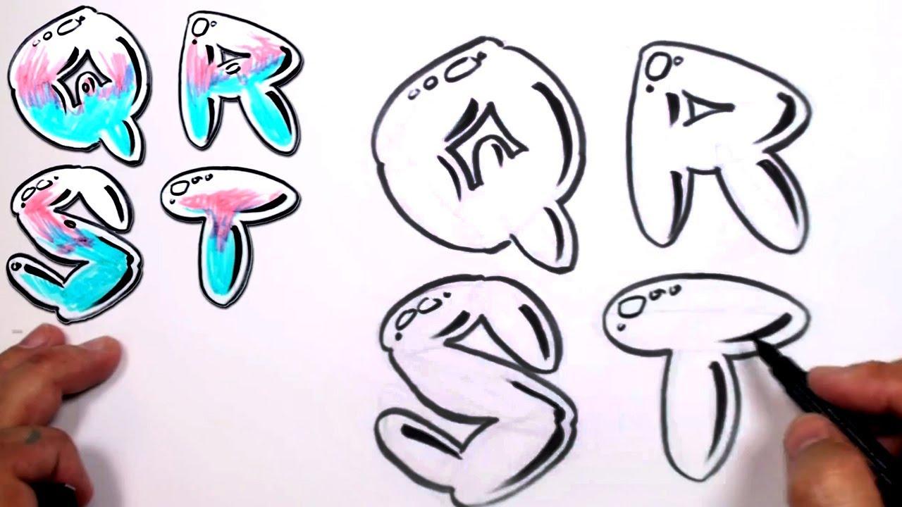 Graffiti Letters Alphabet Bubble Letters Alphabet Q R S T Mat Youtube