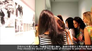 Miss International 2012 in the Okinawa Prefectural Peace Memorial Museum
