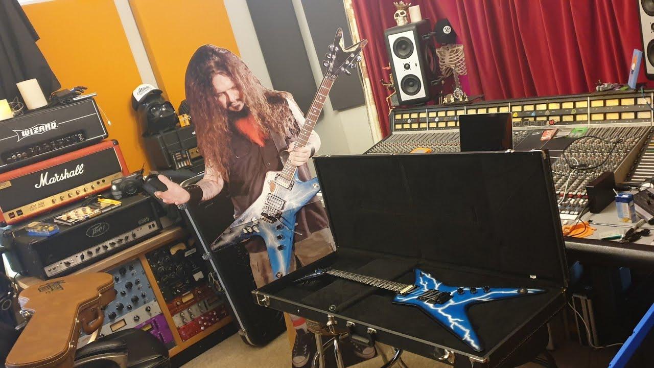 Last Dimebag Darrell Pantera USA Washburn Dime-3 D3 Dimebolt 2005 Guitar  Ever Built Up Close Video!