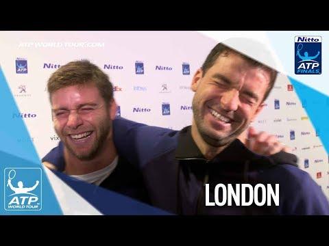 PRANK! Harrison Tricks Dimitrov In Press At Nitto ATP Finals 2017
