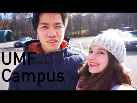 Thanksgiving Vlog 3: Campus Tour of The University of Maine at Farmington (UMF) | Audrey Nguyen