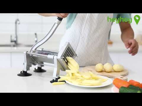SOGA Commercial Potato French Fry Fruit Vegetable Cutter Stainless Steel 4 Blades