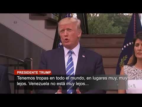 Trump no descarta una operación militar de EE.UU. en Venezuela