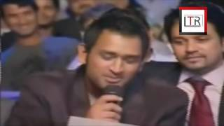 M s Dhoni Singing  Tere mast mast do Nain  on Sachin Tendulkar request with Virat & Yuvraaj   YouTub