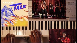 KHALID - TALK (PIANO TUTORIAL) C MAJOR