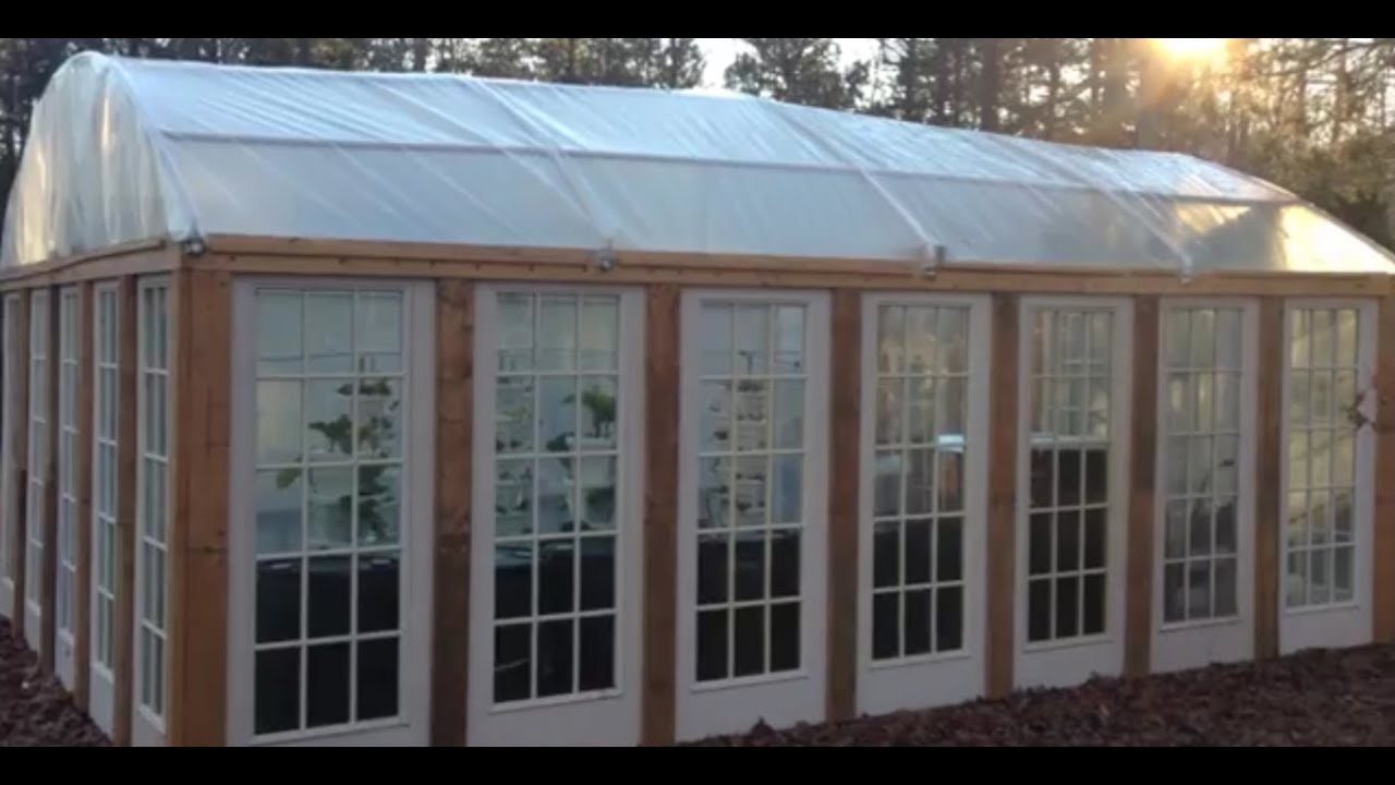 DIY hoop house built with recycled doors - greenhouse for cheap & DIY hoop house built with recycled doors - greenhouse for cheap ... Pezcame.Com