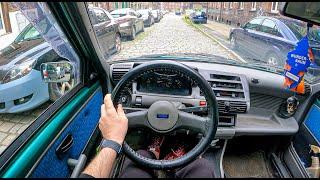 1995 Fiat Cinquecento [0.7I 31HP] | TOP Speed | POV Test Drive #793 Joe Black
