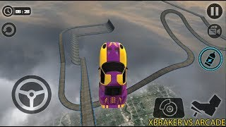 Impossible Car Tracks 3D: Purple Car Driving Stunts Levels 14 and 15 - Android GamePlay 2019