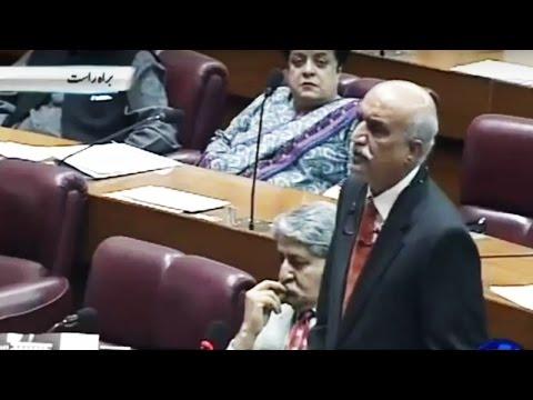 Opposition leader khursheed shah speech in parliament