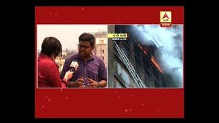 Bagri Market fire:Traffic came to halt at Brabourne Road area