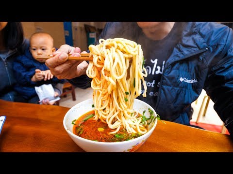 Chinese Street Food - ENTIRE BOWL ONE-NOODLE and Halal Beef Salad!   Yunnan, China Day 2